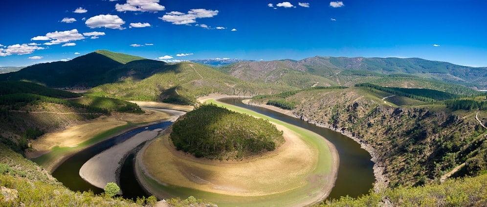 Meandro de Melero, Riomalo de Abajo,Las Hurdes, Cáceres, Extremadura